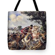 The Battle Of Bouvines, 1214 Tote Bag
