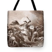 The Battle Of Hastings, Engraved Tote Bag