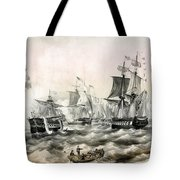 The Battle Of Lake Erie - 1878 Tote Bag