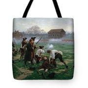 The Battle Of Lexington, 19th April 1775 Tote Bag