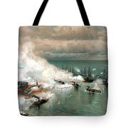 The Battle Of Mobile Bay Tote Bag