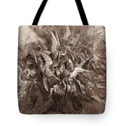 The Battle Of The Angels Tote Bag