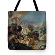 The Battle Of Vercellae Tote Bag