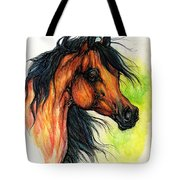 The Bay Arabian Horse 11 Tote Bag
