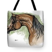 The Bay Arabian Horse 12 Tote Bag