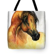 The Bay Arabian Horse 14 Tote Bag