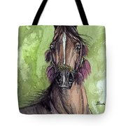 The Bay Arabian Horse 16 Tote Bag