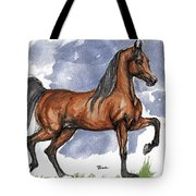 The Bay Arabian Horse 17 Tote Bag