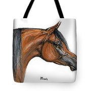 The Bay Arabian Horse 18 Tote Bag