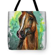 The Bay Arabian Horse 2 Tote Bag