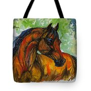 The Bay Arabian Horse 3 Tote Bag