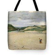 The Beach At Ambleteuse, 1869 Oil On Canvas Tote Bag