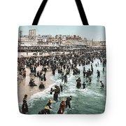 The Beach At Atlantic City 1902 Tote Bag