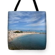 The Beach At Cap D' Antibes Tote Bag