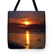 The Beach At Dawn Tote Bag