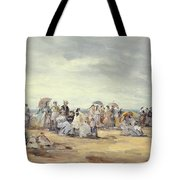 The Beach At Trouville, 1873 Tote Bag
