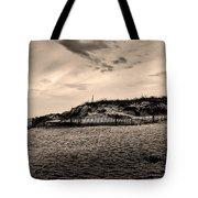 The Beach In Sepia Tote Bag