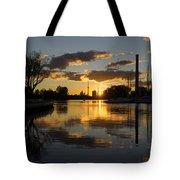 The Beaches Marina At Sunset Tote Bag