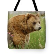 The Bear Dry Brushed Tote Bag