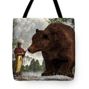 The Bear Woman Tote Bag