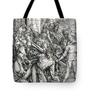The Bearing Of The Cross From The 'great Passion' Series Tote Bag by Albrecht Duerer