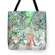 The Beatles - Abbey Road - Watercolor Painting Tote Bag