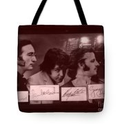 The Beatles In Old Photo Process At Fudruckers Tote Bag