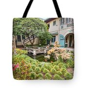 The Beautiful Courtyard Of The Pacific Asia Museum In Pasadena. Tote Bag