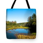 The Beautiful Moose River In Old Forge New York Tote Bag