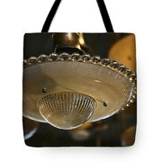 The Beauty Of A Vintage Glass Ceiling Light Tote Bag