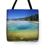 The Beauty Pool Yellowstone Np Wyoming Tote Bag