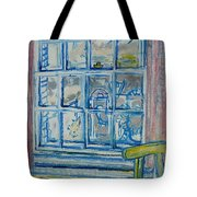 The Bedroom Window Oil & Pastel On Paper Tote Bag
