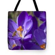 The Bee And The Crocus Tote Bag