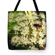 The Bee And The Flowers At Troldhaugen Tote Bag