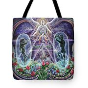 The Beginning Is The End Tote Bag