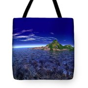 The Beginning Of Land Tote Bag