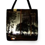 The Bellagio At Night Tote Bag