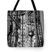 The Bells Of Coney Island In Black And White Tote Bag