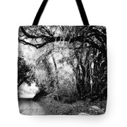 The Bend In The Road Bw Tote Bag