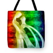 The Benediction Of The Neon Light Tote Bag
