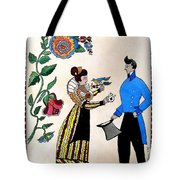 The Betrothal-folk Art Tote Bag