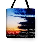 The Bible Matthew 24 Tote Bag