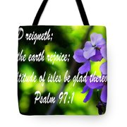 The Bible Psalms 97 Tote Bag