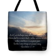 The  Bible Revelation 21 Tote Bag