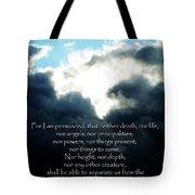 The Bible Romans 8 Tote Bag
