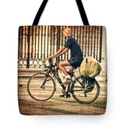 The Bicycle Rider - Leon Spain Tote Bag