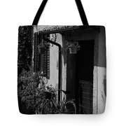 The Bicycle Under The Porch Tote Bag