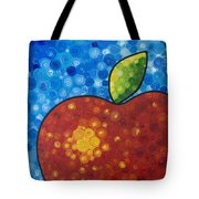 The Big Apple - Red Apple By Sharon Cummings Tote Bag