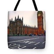 The Big Ben Bus Lane - London Tote Bag