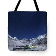 The Big Dipper Rise Above The Himalayas Tote Bag